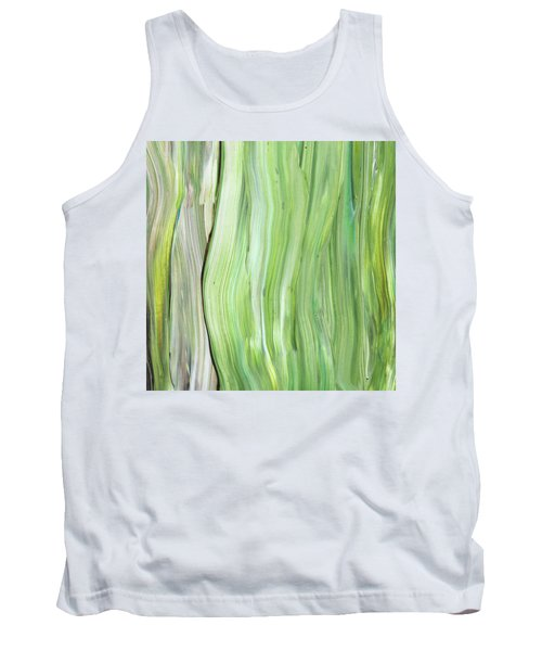 Green Gray Organic Abstract Art For Interior Decor Vi Tank Top