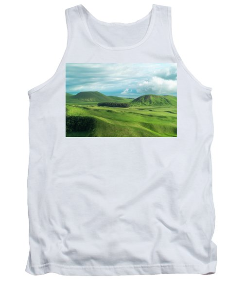 Green Hills On The Big Island Of Hawaii Tank Top