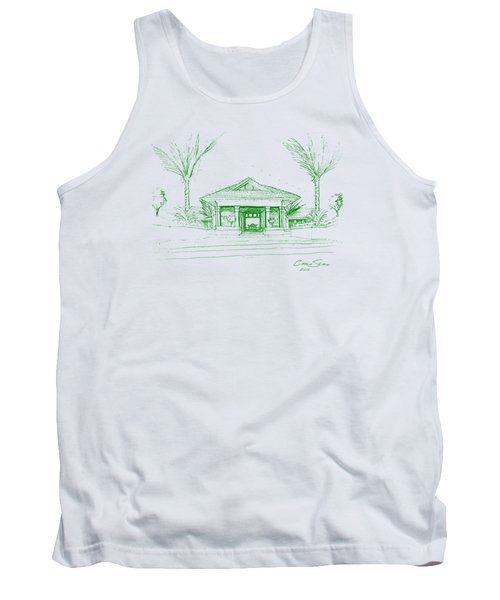 green lines on transparent background 10.28.Islands-8 Tank Top