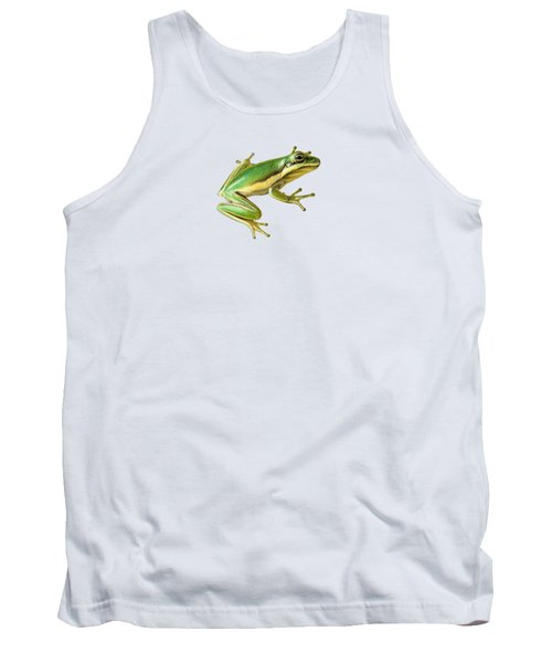 Green Tree Frog Tank Top by Sarah Batalka