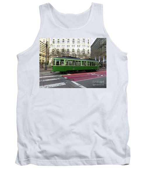 Tank Top featuring the photograph Green Trolley by Steven Spak