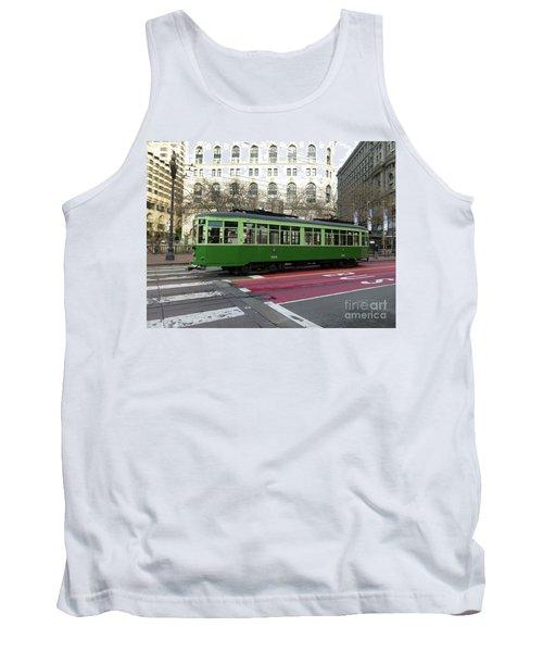 Green Trolley Tank Top
