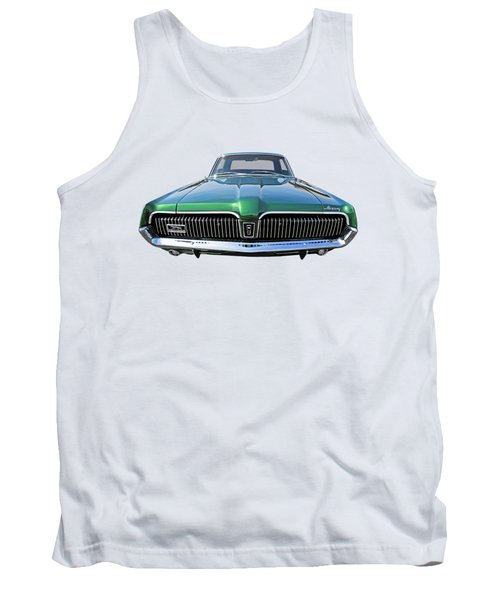 Green With Envy - 68 Mercury Tank Top by Gill Billington