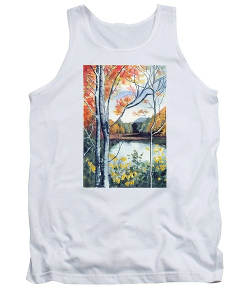 Tank Top featuring the painting Greenbriar River, Wv 2 by Katherine Miller
