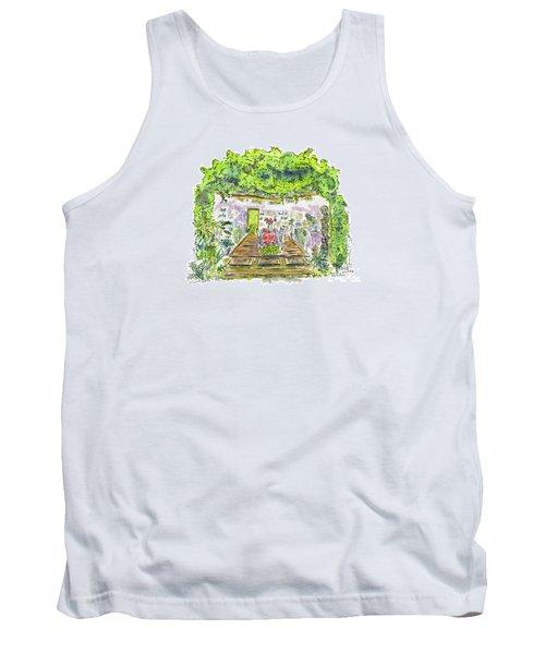 Greenhouse To Volcano Garden Arts Tank Top