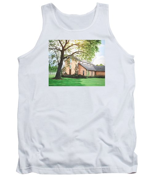 Tank Top featuring the painting Greenwood by Mike Ivey