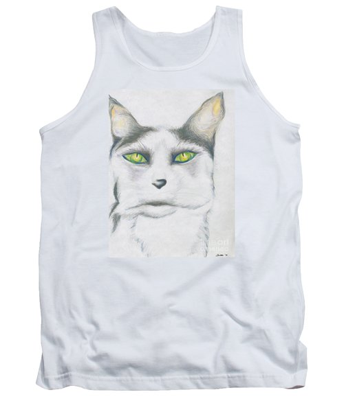 Tank Top featuring the drawing Gretta by Kim Sy Ok