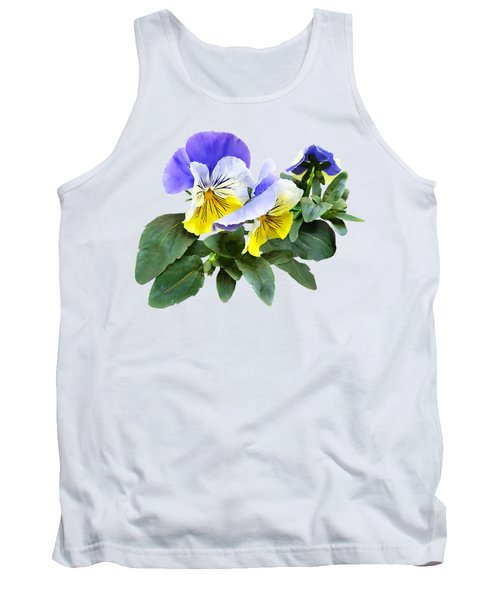 Group Of Yellow And Purple Pansies Tank Top