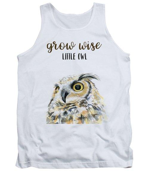 Grow Wise Little Owl Tank Top