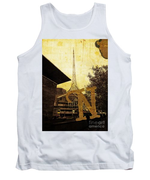 Grungy Melbourne Australia Alphabet Series Letter N National Gal Tank Top