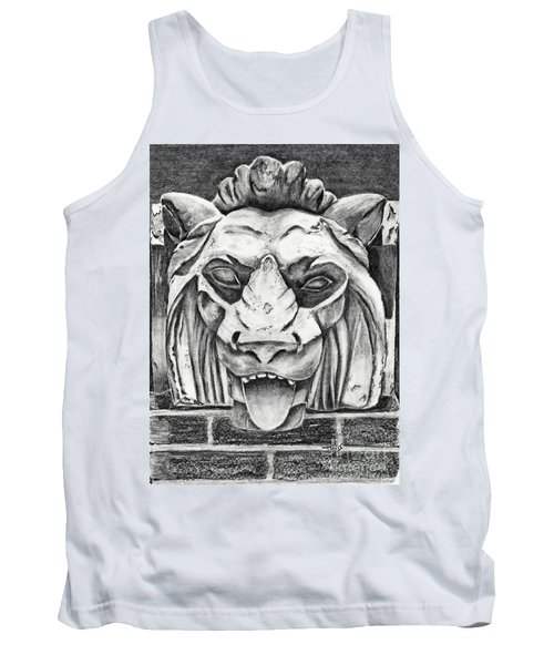 Tank Top featuring the drawing Guardian Lion by Terri Mills