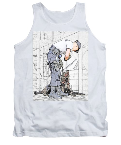 Guarding The City Tank Top by Francesa Miller