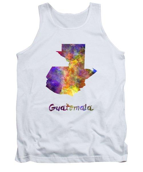 Guatemala  In Watercolor Tank Top