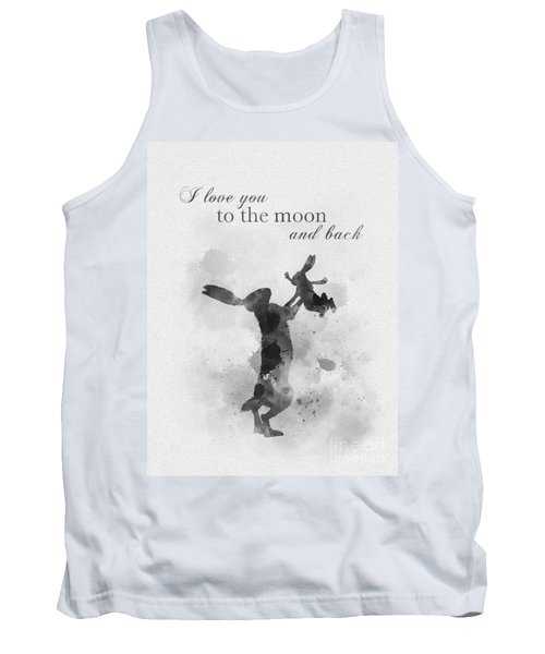 Guess How Much I Love You Black And White Tank Top