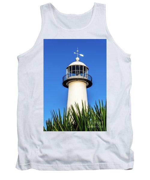 Gulf Coast Lighthouse Seascape Biloxi Ms 3819a Tank Top