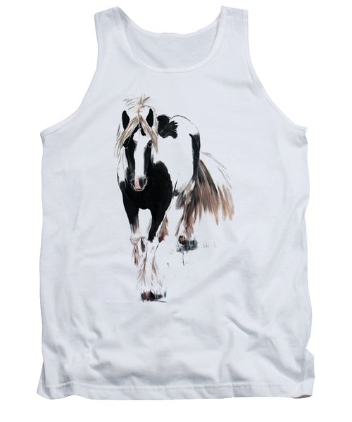 Tank Top featuring the painting Gypsy Vanner by Isabella F Abbie Shores FRSA