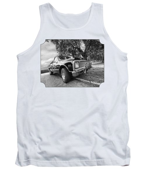 Halcyon Days - 1971 Chevy Pickup Bw Tank Top