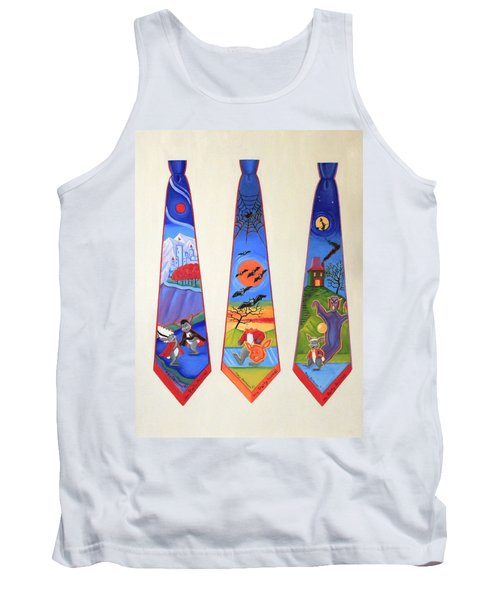 Halloween Ties Tank Top by Tracy Dennison