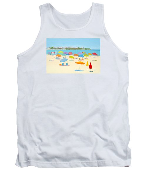 Hampton Beach Umbrellas Tank Top