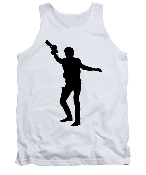 Han Solo Star Wars Tee Tank Top by Edward Fielding