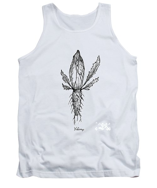Hand Drawn Of Chicory Isolated On White Background Tank Top