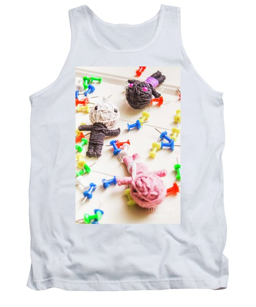 Handmade Knitted Voodoo Dolls With Pins Tank Top