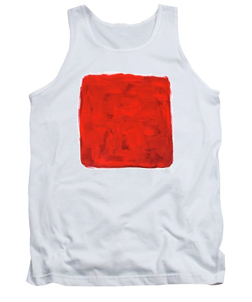 Handmade Vibrant Abstract Oil Painting Tank Top