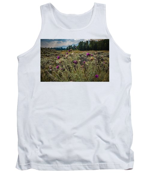 Happier In The Mountains Tank Top by Cathy Donohoue