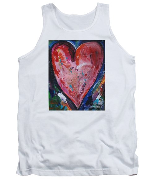 Tank Top featuring the painting Happiness by Diana Bursztein