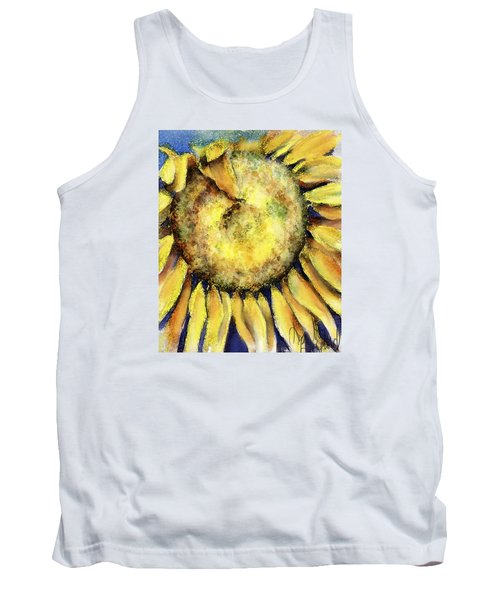Tank Top featuring the painting Happy Day by Annette Berglund