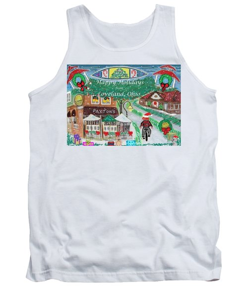 Happy Holidays From Loveland, Ohio Tank Top by Diane Pape