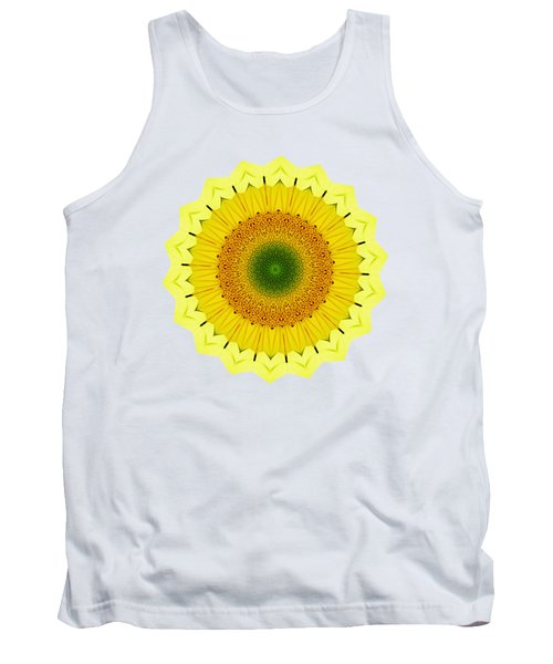 Happy Sunflower Mandala By Kaye Menner Tank Top