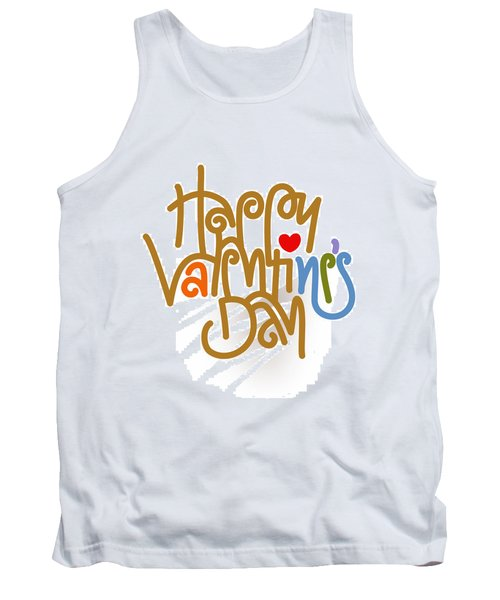 Happy Valentine's Day Poster Tank Top