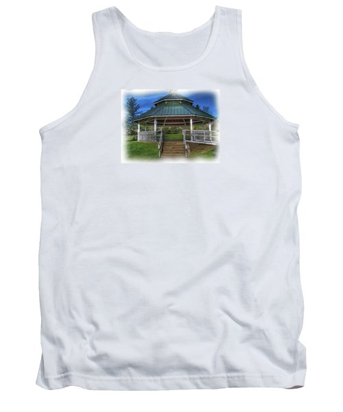 Tank Top featuring the photograph Happy Valley Gazebo Art  by Thom Zehrfeld