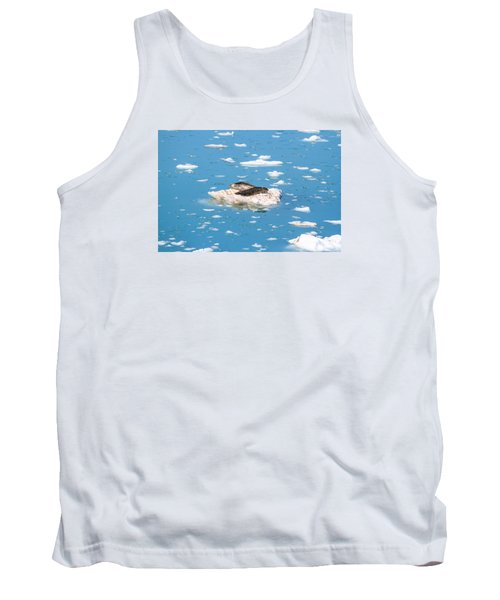 Harbor Seals On Clouds Of Ice Tank Top by Allan Levin