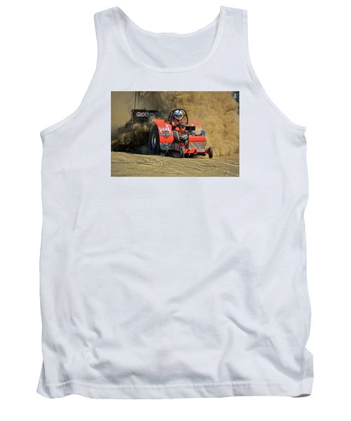 Hard Drive Pulling Tractor Tank Top by Mike Martin