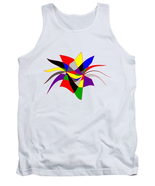 Harlequin Flower Tank Top