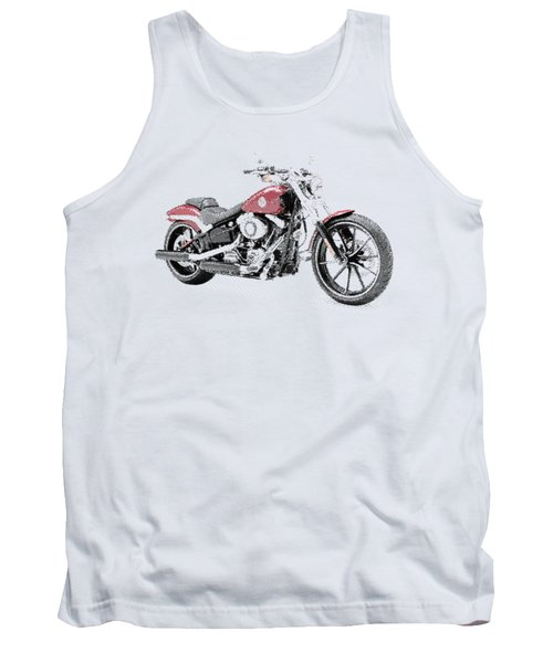 Harley-davidson Breakout - Parallel Hatching Tank Top