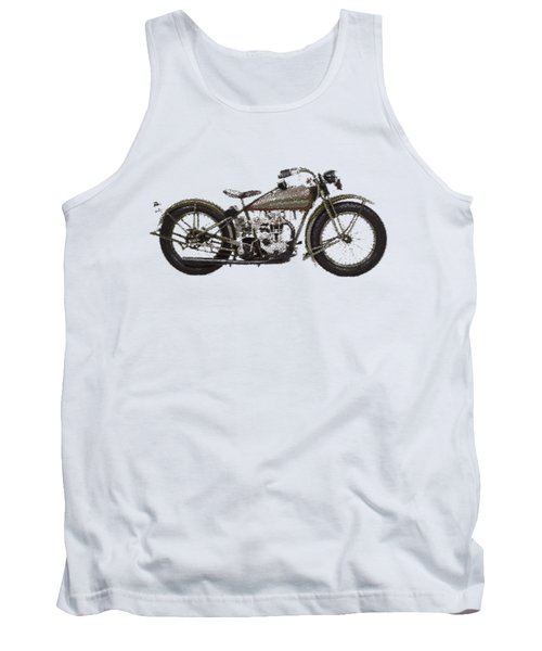Harley-davidson Peashooter  - Parallel Hatching Tank Top