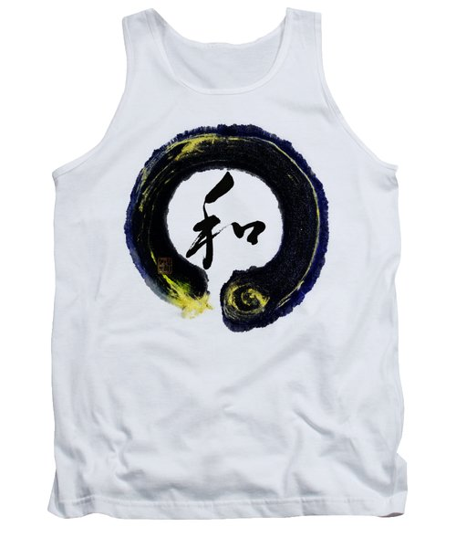 Harmony - Peace With Enso Tank Top by Peter v Quenter