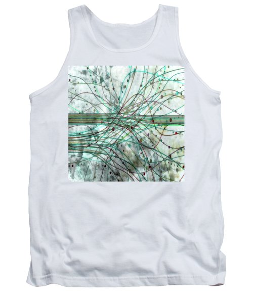 Tank Top featuring the digital art Harnessing Energy 3 by Angelina Vick
