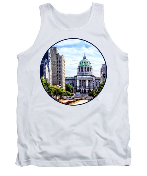 Harrisburg Pa - Capitol Building Seen From State Street Tank Top