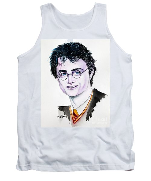 Tank Top featuring the painting Harry Potter by Maria Barry