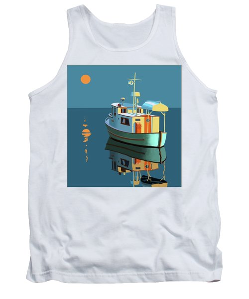 Harvest Moon Tank Top by Gary Giacomelli