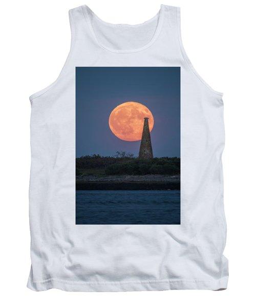 Harvest Moon Over Stage Island, Maine Tank Top