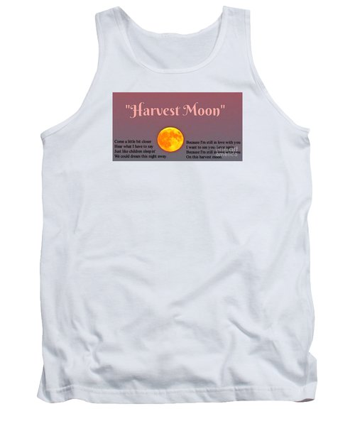 Harvest Moon Song Tank Top by John Malone