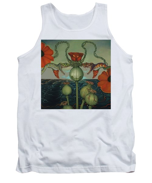 Tank Top featuring the painting Harvesters by Andrew Batcheller