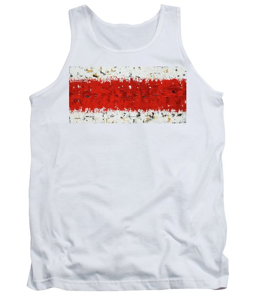 Tank Top featuring the painting Hashtag Red - Abstract Art by Carmen Guedez