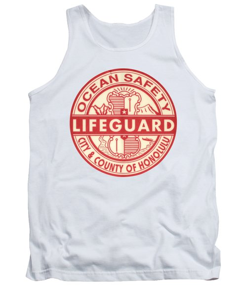 Hawaii Lifeguard Logo Tank Top