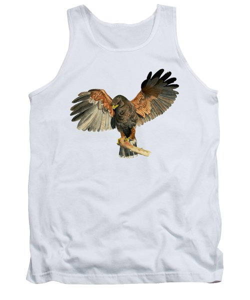Hawk Flapping Wings Watercolor Painting Tank Top